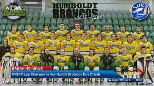 Charges laid in fatal Humboldt Broncos bus crash
